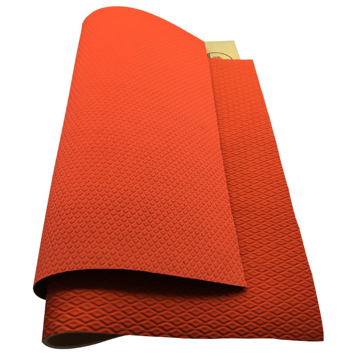 sample provided 2mm embossed SBR neoprene rubber sheet laminate polyester fabric by the yard for mat