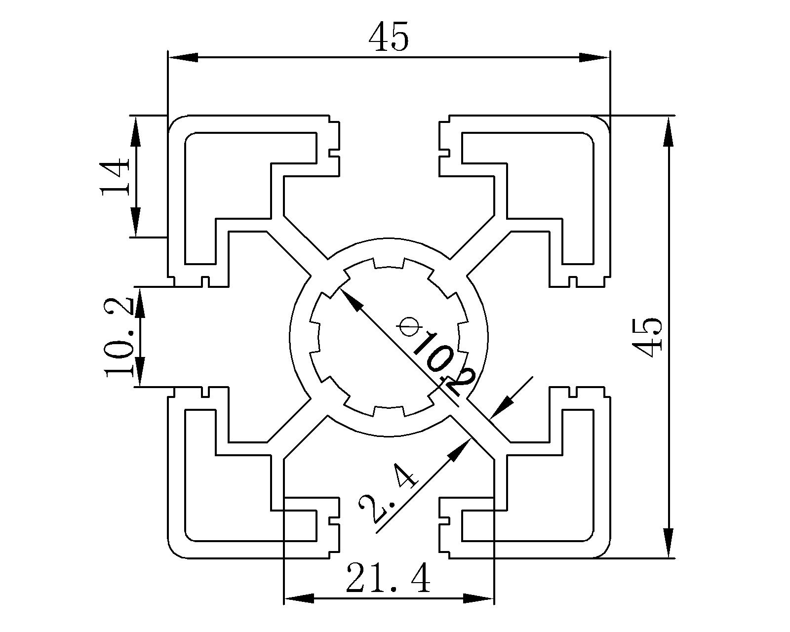 oot cover Aluminum profile BT454R