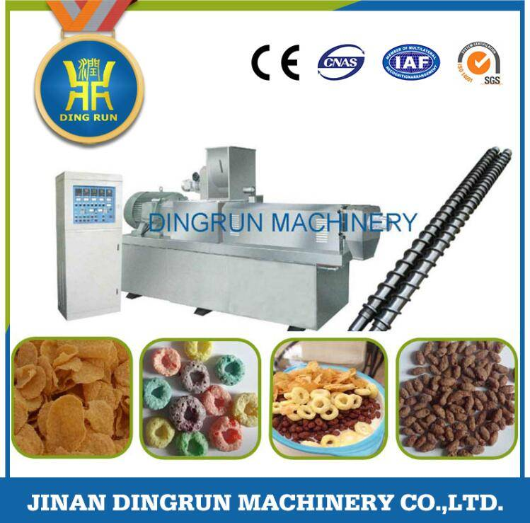 snacks food production extruder / snacks making machine