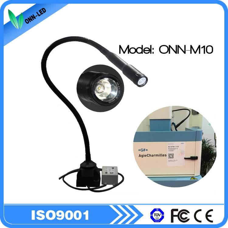 M10A 2.5W led spot light for cnc machine flexible gooseneck spot lamp