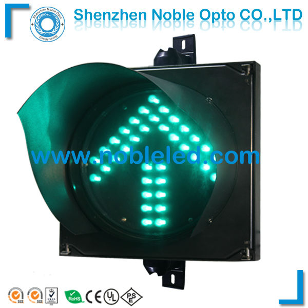 road safety directional led arrow warning traffic light in green color