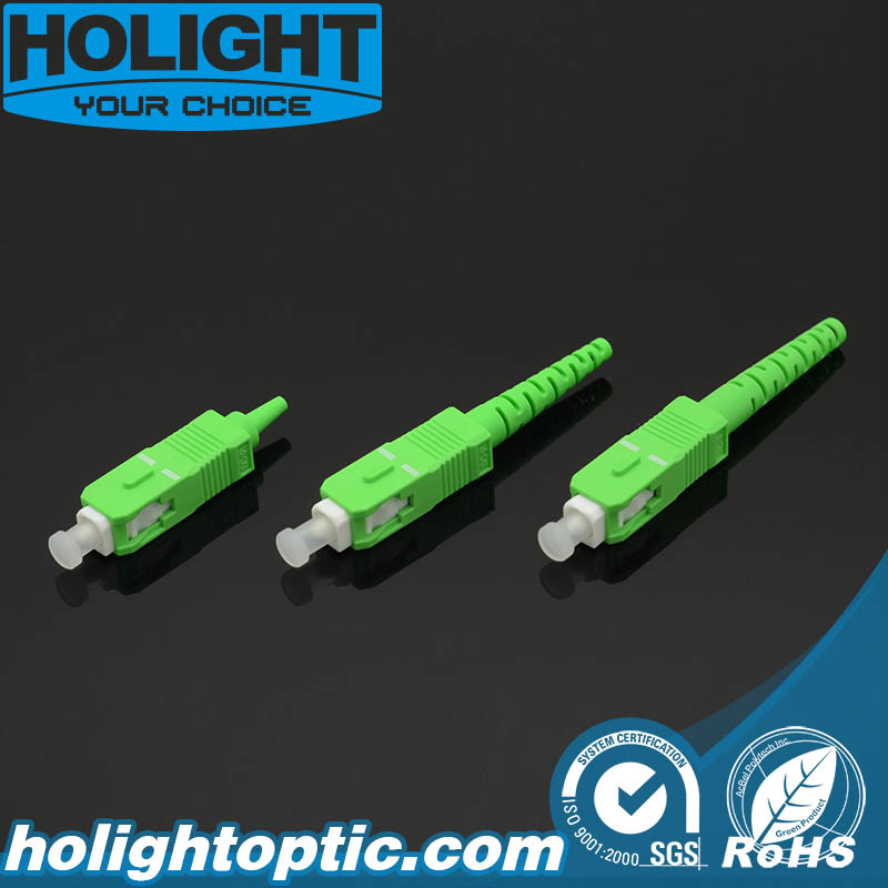 Fiber Optic Connector Kit Sc APC Green