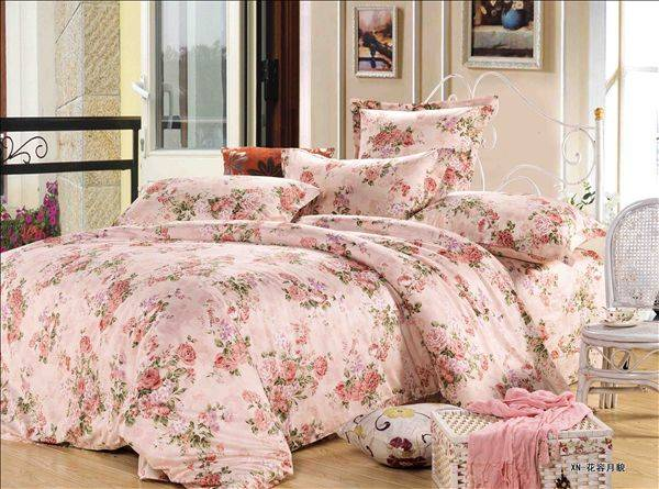 floral printed cotton fabric for bedding