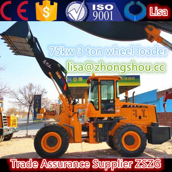 1.hot sale new style ZL36 3 ton compact wheel loader with ce made in China