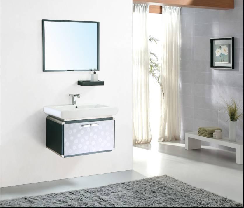 modern basin cabinet