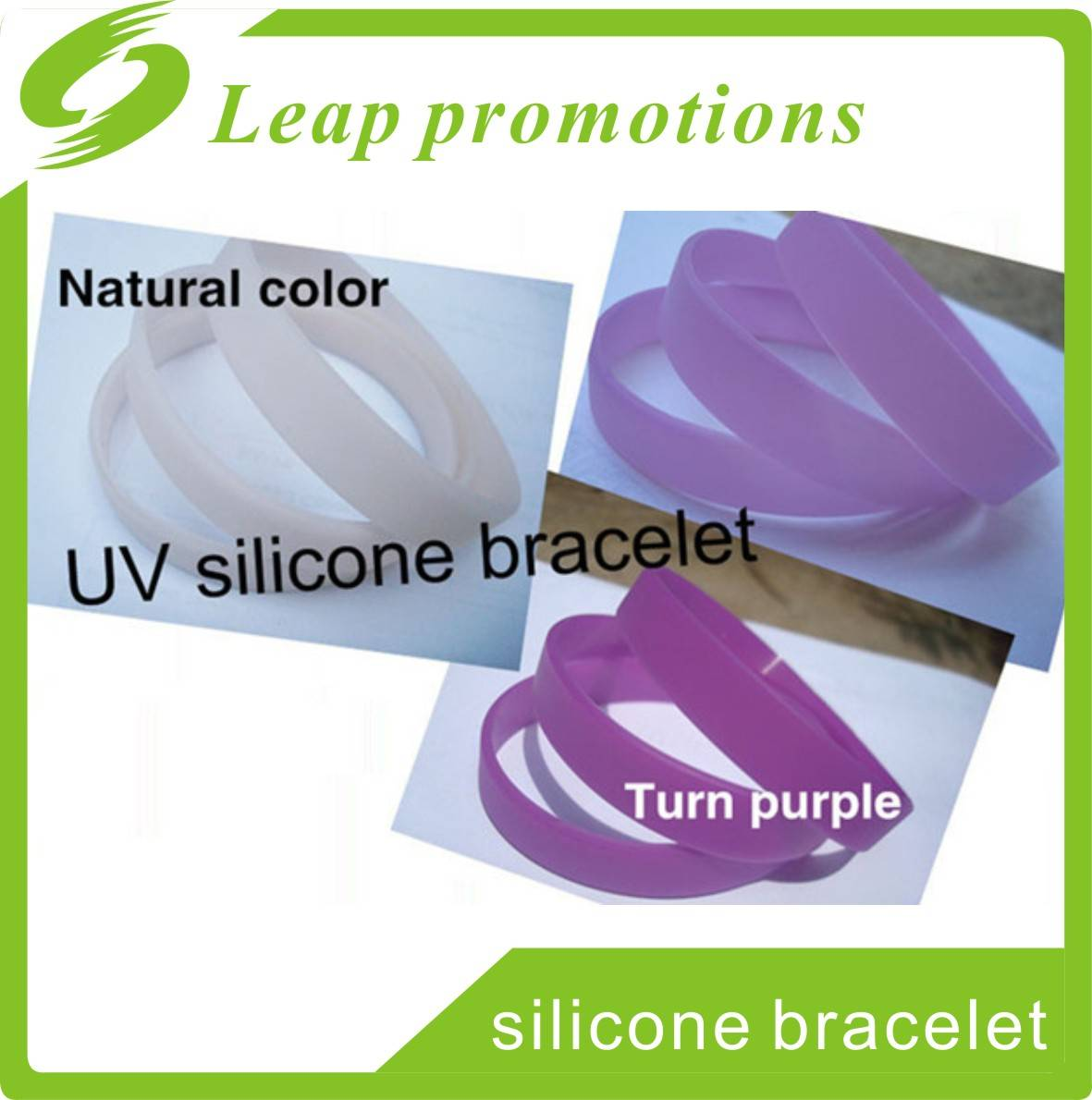 2016 Promotion UV silicone wristband silicone wrist band