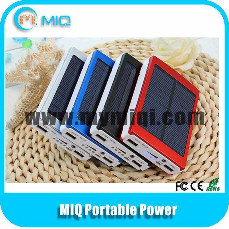 MIQ High capacity portable solar charger with head lamp for mobile phones