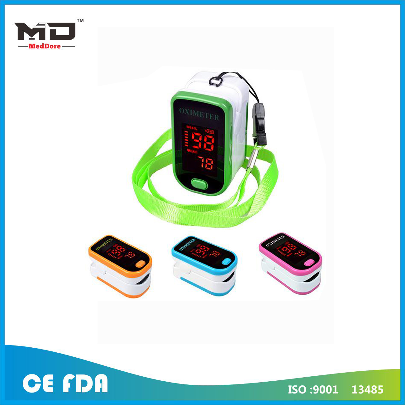 Digital LED Fingertip Pulse Oximeter Blood Oxygen SpO2 Saturation Oximeter Monitor Oximetry Pulsomet