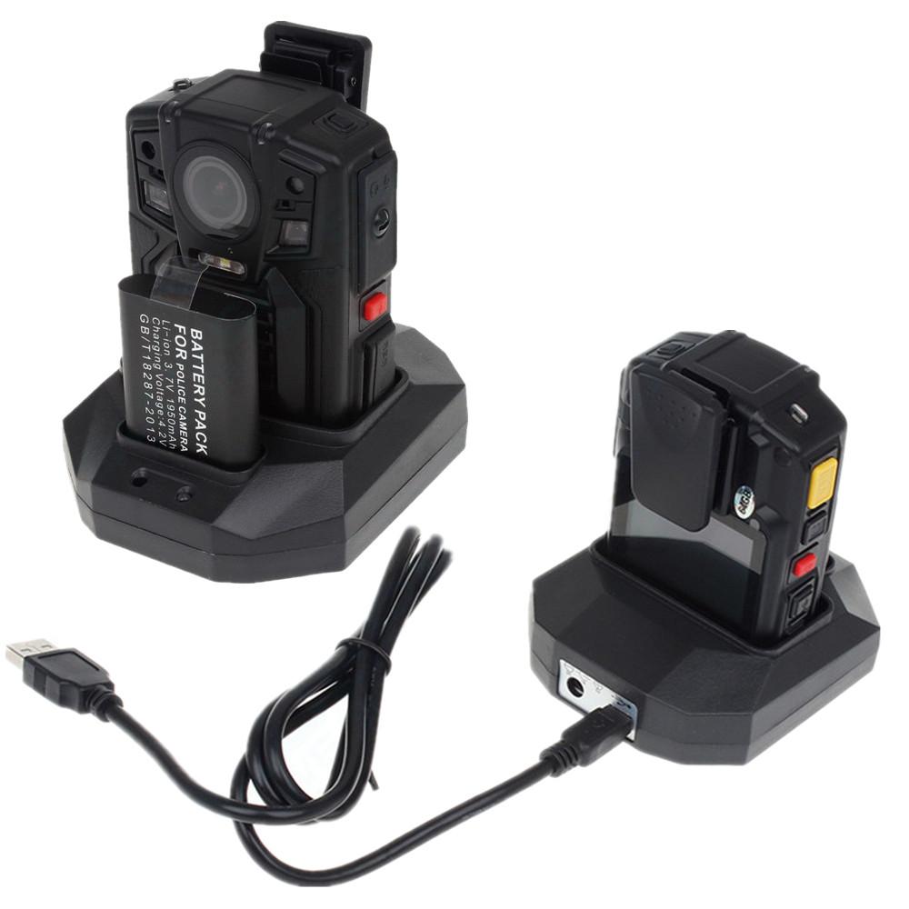 Elook A7 police body worn camera two battery GPS wifi optional