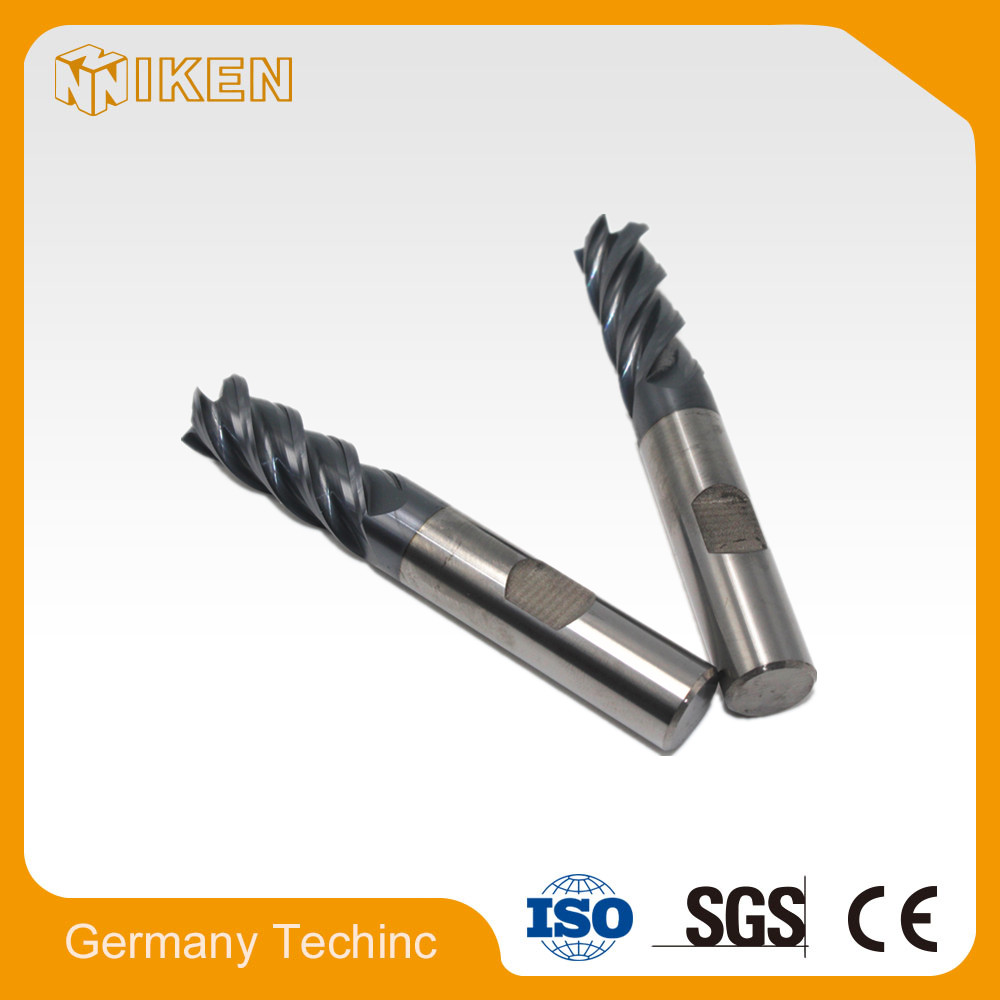 55 degrees of tungsten cobalt alloy end mill cutter 4 flutes coating processing