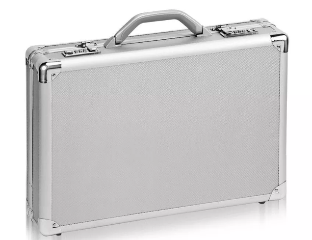 Aluminum laptop case business computer briefcase