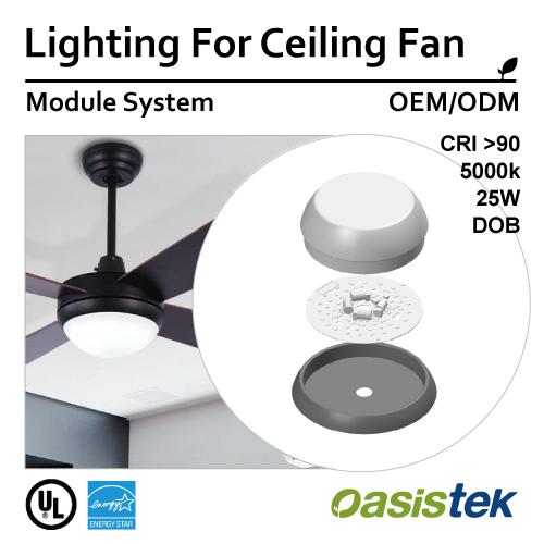 Lighting For Ceiling Fan, LED Lighting, Module-System, Oasistek