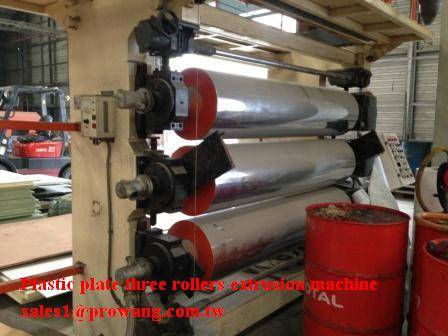 Plastic plate three rollers extrusion machine