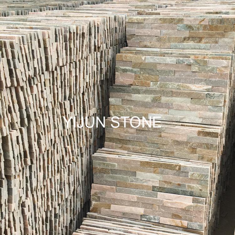 YIJUN STONE/ YJ-C-004 Natural slate stone/ Cultured stone/ wall stone/ Fireplace stone