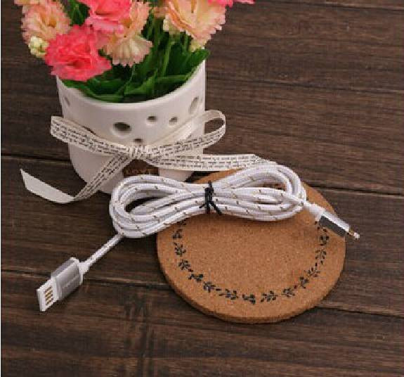 Nylon Charging / Data Sync Cable for IPHONE 6/6 PLUS, IPHONE 5S/5, AND IPAD