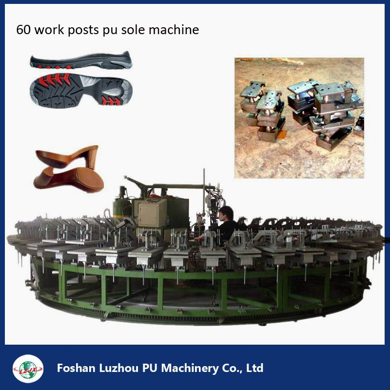60 Work Stations PU Pouring Machine for Shoe