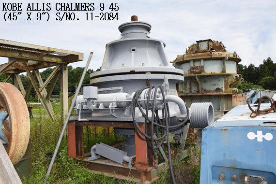 "USED ""KOBE"" ALLIS-CHALMERS 9-45 (45"" X 9"") HYDROCONE (EXCONE) CRUSHER S/NO. 11-2084"