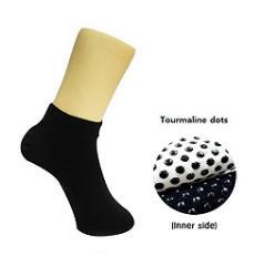 Ceramic Massage Sneakers Socks Healthcare Inner Tourmaline Dots For Men Black