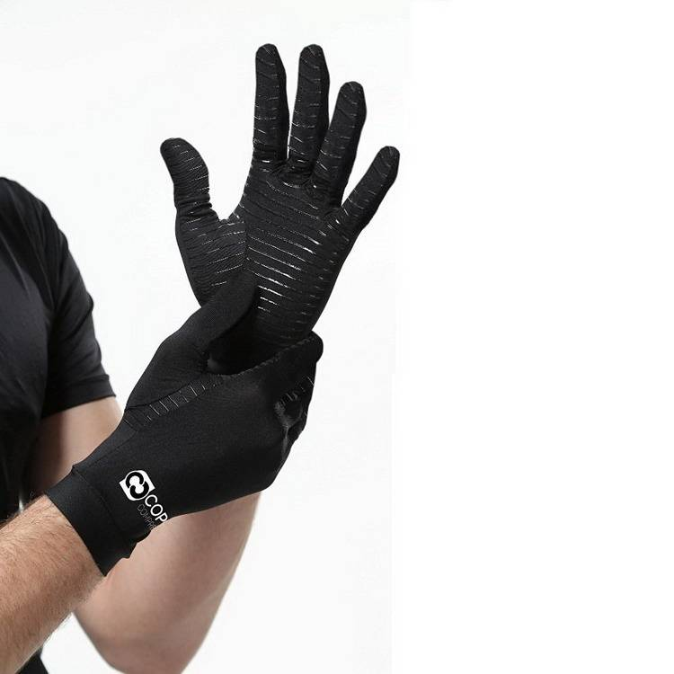 Full Fingers Men's Core Copper Compression Arthritis Gloves