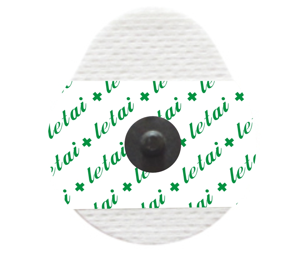Droplike solid gel non-woven snap button ray permeable electrodes