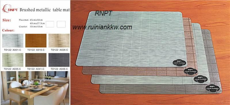RNPT Brushed metallic table mat