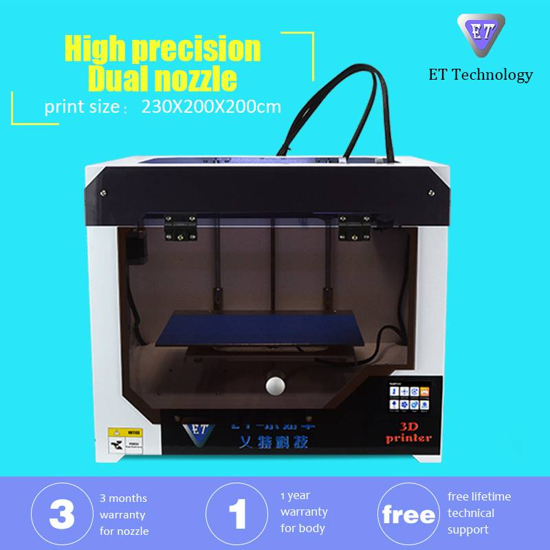 2016 China Professional Desktop FDM 3D Printer Manufacturer with Dual Extruder