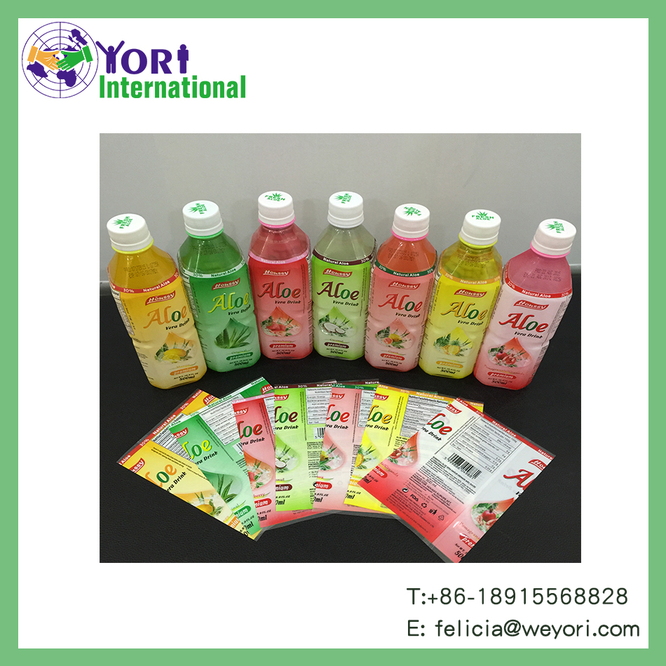 YORI good price soft drink label pet heat shrink sleeve label