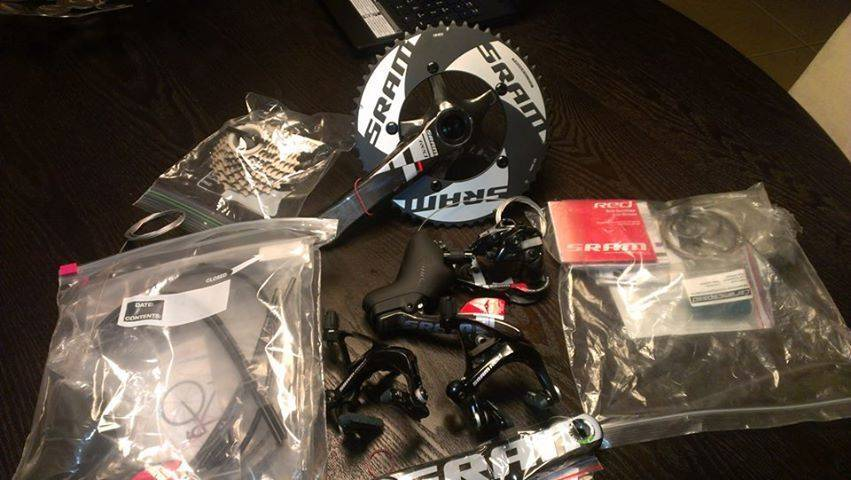 New SRAM RED GROUP SET COMPLETE BUILD KIT 10 SPEED COMPACT 172.5