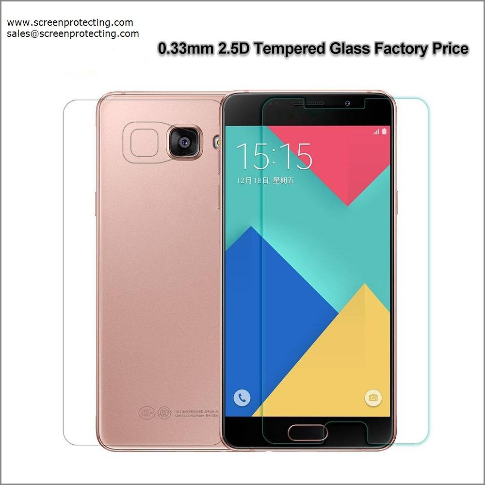 2.5D Screen Shield Screen Guard 9H Premium Tempered Glass Screen Protector for Samsung Galaxy A5