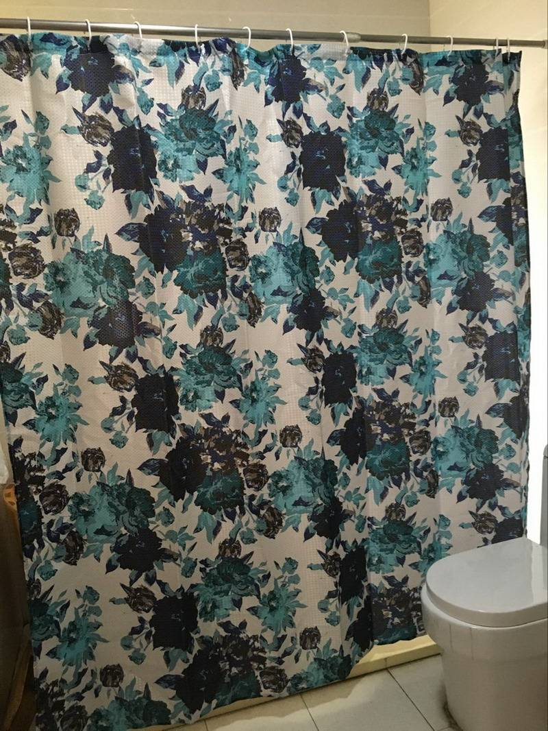 Wholesale polyester printed fabric curtain with matching window curtain