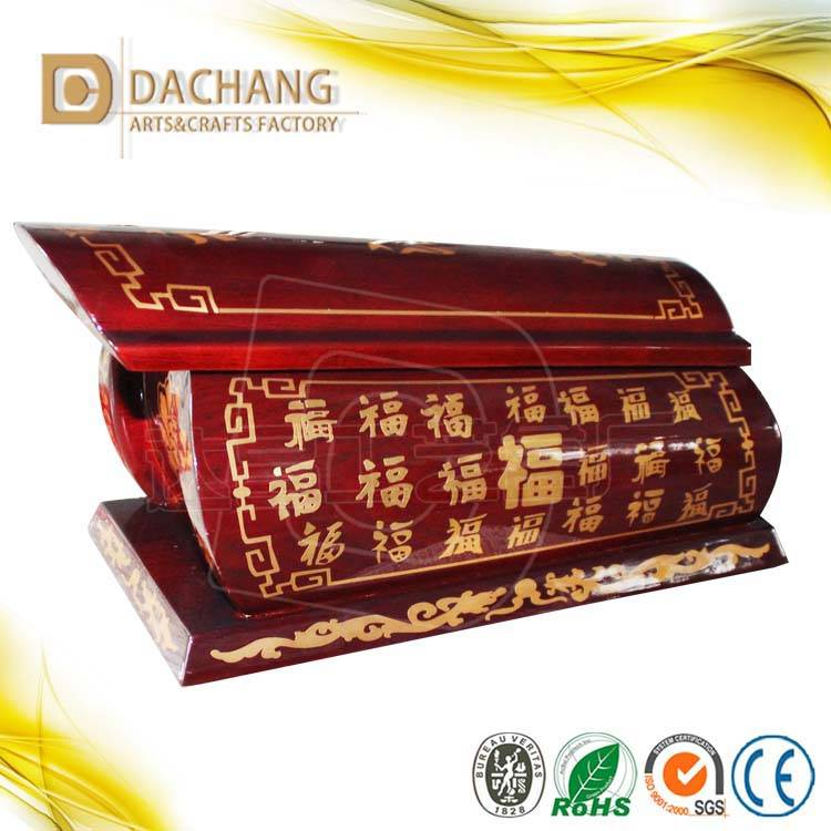 hot-sell chinese style hardwood human cremation urn
