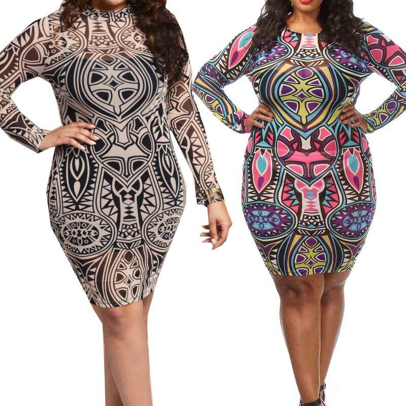 Fat Women Plus Size Bandage Dress 4490