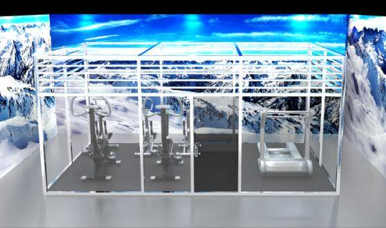 Aerobic training room