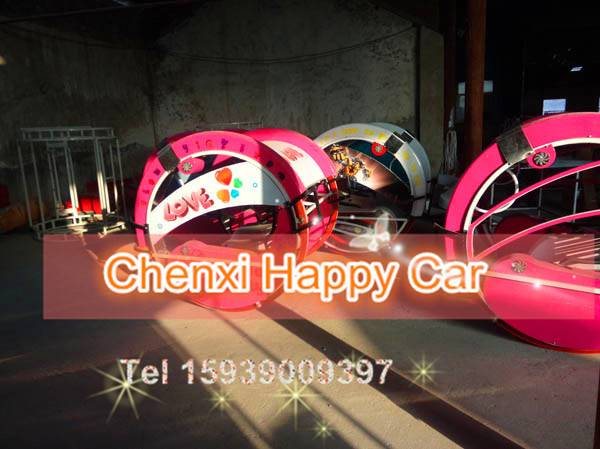 Outdoor Amusement Park Equipment Electric Happy Swing Racing Ride Car for Family Joy