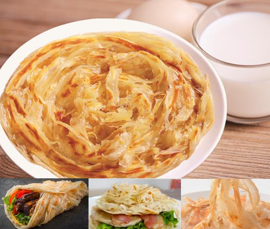 Xiaolian Factory Traditional Chinese Frozen Snack Food Dim Sum Paratha Hand Grasp Pancake Chinese Di