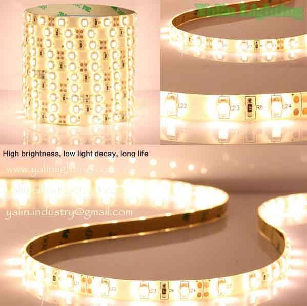 5050SMD 60 LED strip lights, warm white 2700K 3000K holiday rope lighting