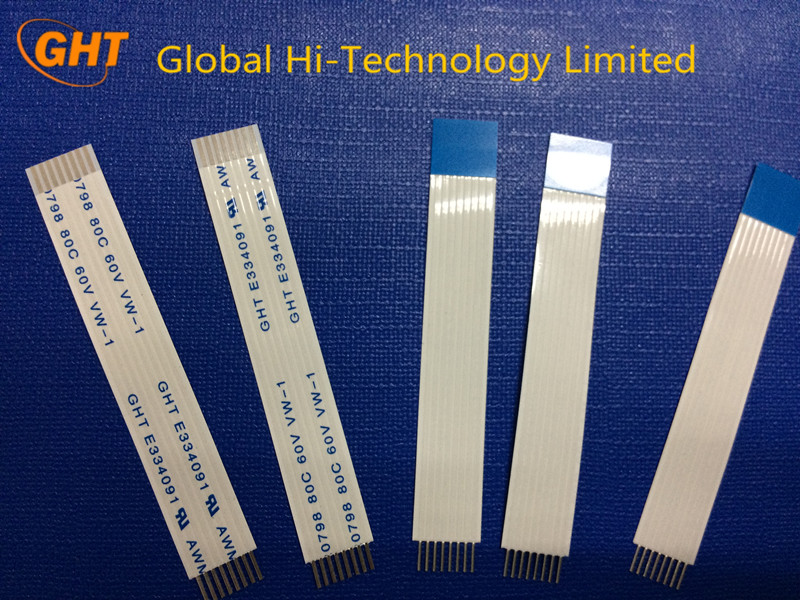 Tin Plated 1mm 8 pin flat ribbon cable
