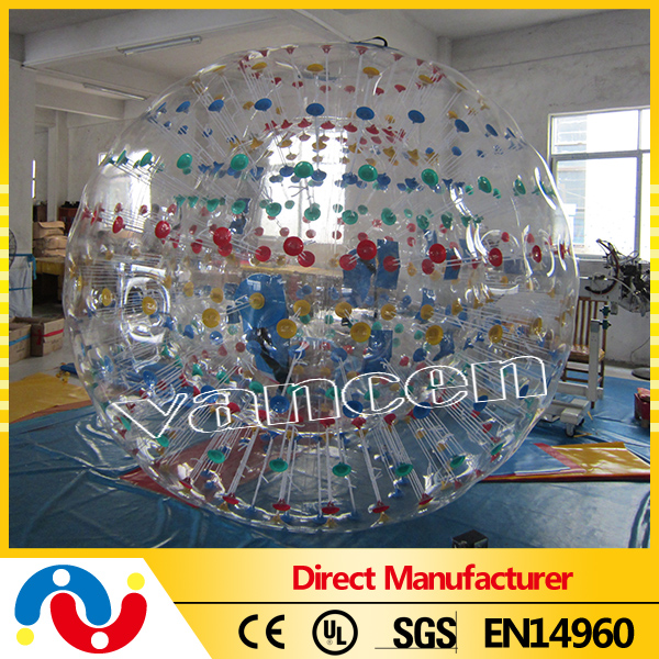 High Quality Outdoor Inflatable PVC/TPU body zorb ball
