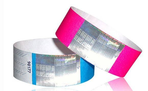 Tyvek one-time used wristband