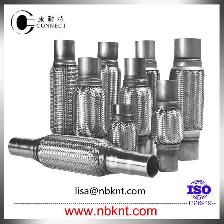 Universal vehicle muffler connect joint pipe with nipples