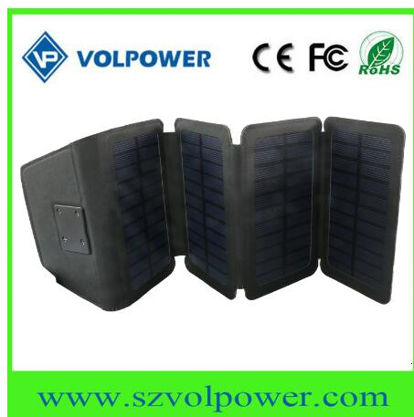 Factory Price Wallet Size 5V 6W Foldable Solar Panel Charger for Mobile Phone