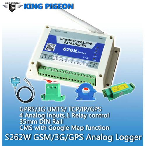 3g GPRS Data Logger S262 with 4 analogue inputs