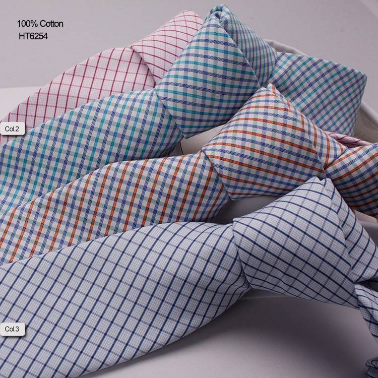 Branded Woven Business Triped Cotton Neckties