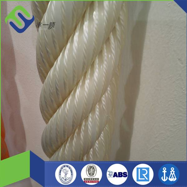 Low elongation nylon 6 strand rope for marine container use