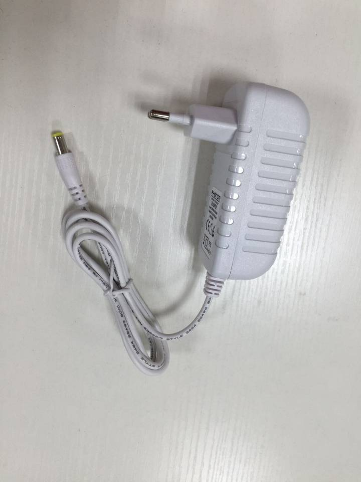 LED power supply 12VDC - 6W DC plug, 5.5 * 2.1 for LED strip, 12V