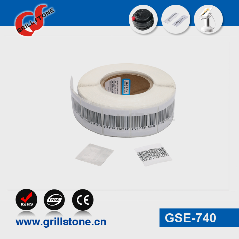 Grillstone EAS RF Soft lable 8.2MHZ security lable for retail shop