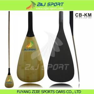 Bamboo Veneer Carbon SUP Paddle   CB-KM