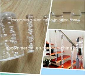 Clear Acrylic Rod Used in Stair Handrail