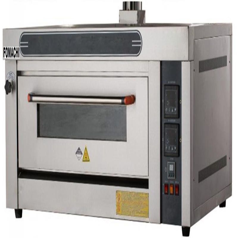 Commercial Single Gas Deck Oven 1 Deck 2 Trays All S/S Cake Bakery Oven FMX-O20R