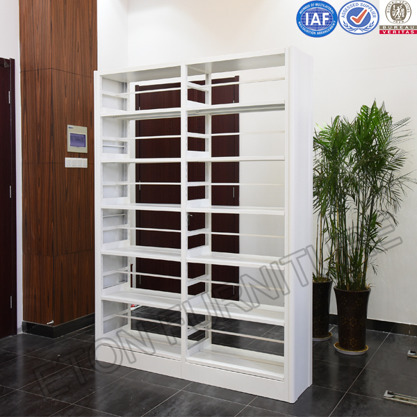Office Furniture Double Sided Full Steel Multilayer Book Shelf Bookcase